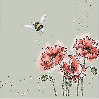 Wrendale Designs Vuelo del juego Bumblebee de 20 servilletas