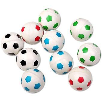 FengChun 10 Stck Flummis Fuball Design ca. 27mm Flummi Springball Hpfball Mitgebsel Tombola