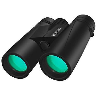 10X42 Kiikarit, tehokkaat aikuisten kiikarit lintujen tarkkailuun Vaelluskonsertit Camping-BAK4 Prism FMC Lens Terävämmät yksityiskohdat ja kevyt, vedenpitävä ja pölynkestävä (musta)