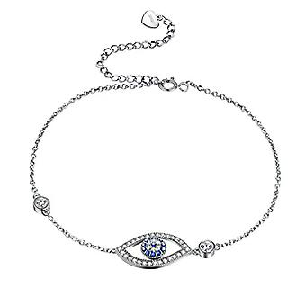 Besilver FB0001W - Sterling 925 silver bracelet with adjustable protection crystals, for women and girls, with Ref. 8431228533995