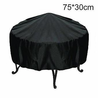 Waterproof BBQ Outdoor Grill Cover Rainproof Dustproof Sunshade Round Barbecue Covers(75*30cm)