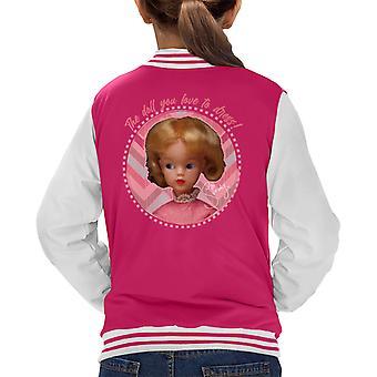 Sindy Pink Dress Kid's Varsity Jacket