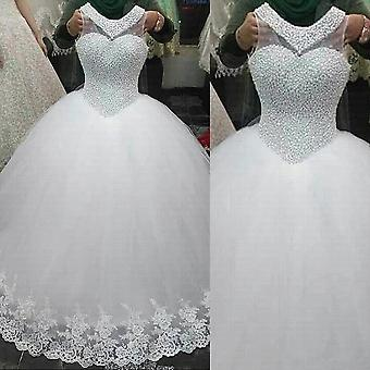 Robe de bal sans dos Robes de mariée Tulle