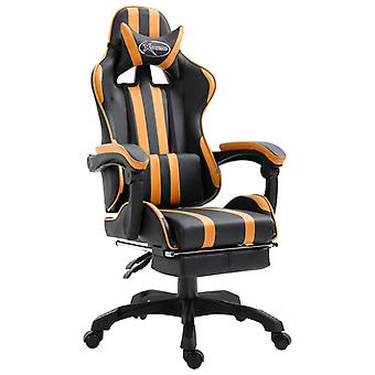 vidaXL gaming stoel met voetsteun oranje kunstleer