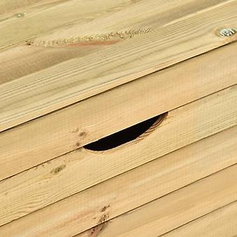 vidaXL banc de jardin avec 3 tiroirs 170 cm massif de bois pin