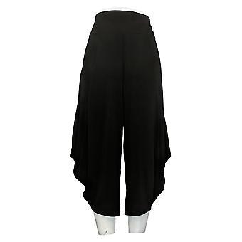 G.I.L.I. Got It Love It Women's Petite Pants Jetsetter Harem Black A351967