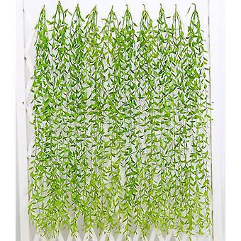 2 stuks kunstmatige hangende plant, 95cm kunstmatige planten klimop wilg bladeren plastic planten-b