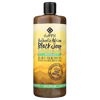 Alaffia Authentic African Black Soap, Peppermint 32 Oz