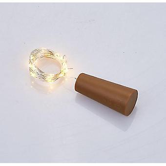 6Pcs violet 20led guirlande fils de cuivre liège cordes lumières de fées pour bouteille artisanale en verre az12147