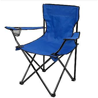 Chaise pliante portable extérieure bleue pour le camping barbecue pique-nique pêche voyage az10629
