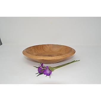 Trä bowl frukt skål dekoration bowl bowl ek 22 cm handgjord gjord i Österrike trädekoration trädekoration unik presentidé