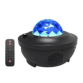 1pc Romantic Starry Night Projector Audio Player Usb Projection Lamp
