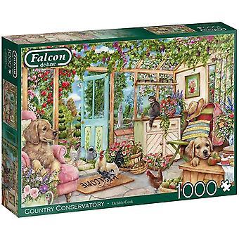 Falcon Deluxe country vinterträdgård pussel (1000 stycken)