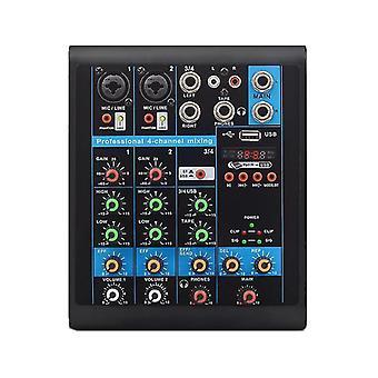 Mini 4 Canaux Audio Mixer USB bluetooth DJ Sound Mixing Console MP3 Karaoke Amplificateur pour KTV