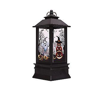 YANGAN Halloween Lamp Lantern Castle Decor Vintage Pumpkin Party Light Hanging