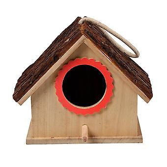 Madár függő barlang ketrec nagy madárház függő fa madár fészkek Kisállat kellékek| Madárketrecek és fészkek