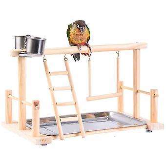 Pet Bird Toy Activity Center Birdcage Stands With Bird Perch Ladder Hammock Feeder Parrot|Bird Toys