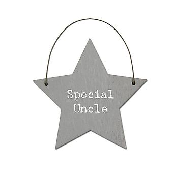 Special Uncle - Mini Wooden Hanging Star - Cracker Filler Gift