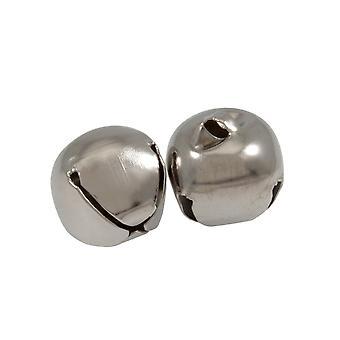 SISTE FÅ - 2 sølv 30mm jingle bjeller for håndverk