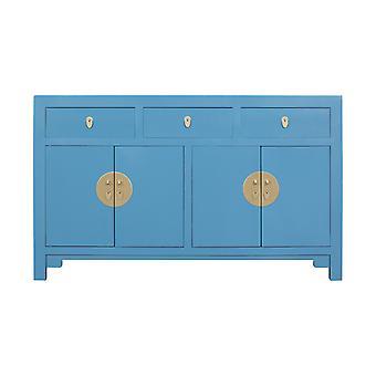 Aparador chino de vida asiática fina azul cielo - Orientique Collection W140xD35xH85cm