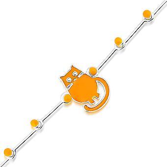 Milk&Moo Tombish Cat Baby Girl Ezüst Bokalánc , Bokalánc karkötők nőknek és lánynak, sterling ezüst bokalánc nőknek, bokalánc, bokalánc a lány sterling ezüst