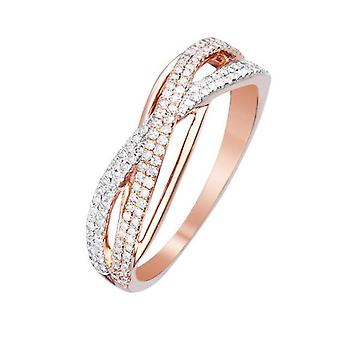 Ring 'My Strength' Rose Gold and Diamonds
