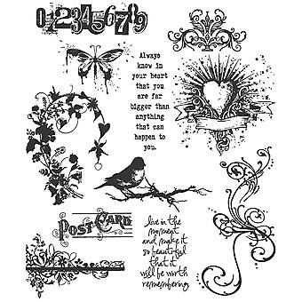 """Tim Holtz Cling Stamps 7""""X8.5"""" - Urban Chic"""