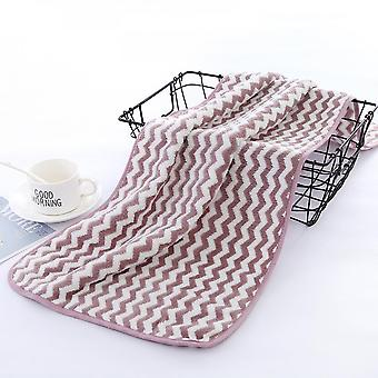 Factory Wholesale 300 Grams Of Warp-knitted Coral Velvet Water Pattern Face Towel Thickened Absorbent Adult Daily Face Towel