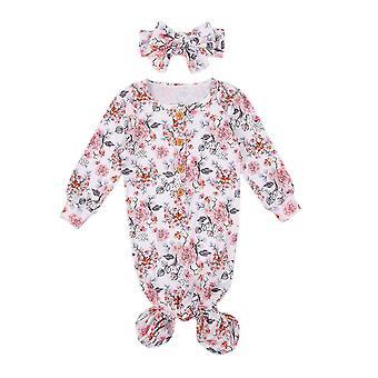 Vastasyntynyt vauvan makuupussit pitkähihainen yöpaita makuupussi huivi