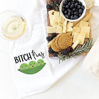Bitch Peas-cotton Canvas Kitchen Tea Towel