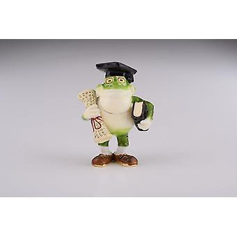Frog Graduating Student-trinket Box