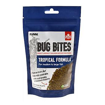 Fluval Bug Bites Tropické formule Granule pro středně velké ryby - 4.4 oz