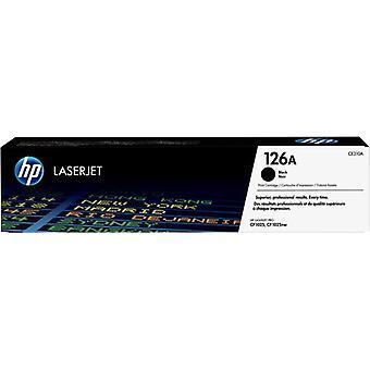 HP 126A Black LaserJet Toner Cartridge, Original, 1200 Pages, Black, 1 Piece