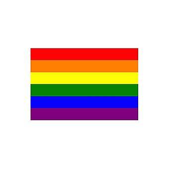 الاتحاد جاك ارتداء قوس قزح العلم 5 × 3