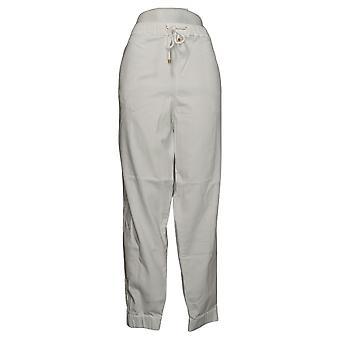 Skinnygirl Women's Pants Pull-On Knit Denim Jogger White 753683