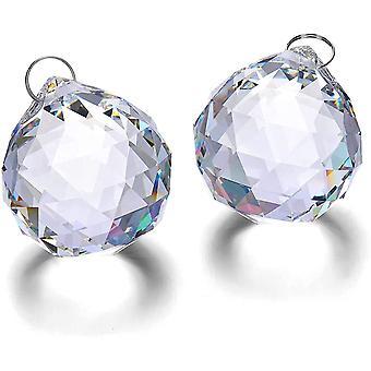 10kpl kristalli sateenkaari suncatcher lasi pallo prisma roikkuu kattokruunu riipus 40mm