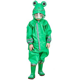 1-10 Years Old Kids Blue Dinosaurs Raincoat Outdoor
