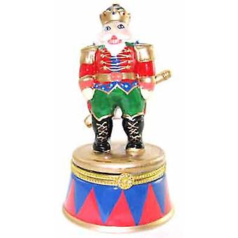 Nutcracker Tin Toy Soldier Hinged Trinket Box  phb