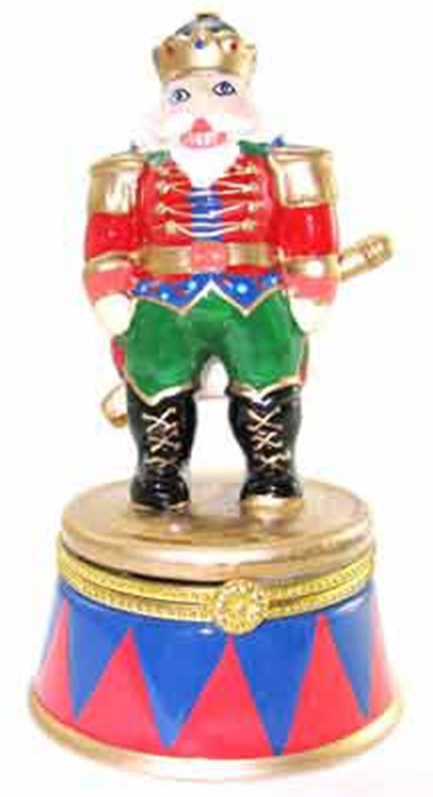 Nutcracker Tin Toy Soldier Hinged Trinket Box  phb