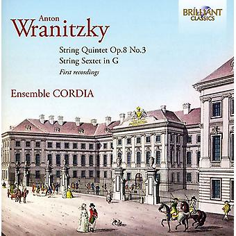A. Wranitzky - Wranitzky: String Quintet opus 8/3; Sextuor à cordes G [CD] USA import