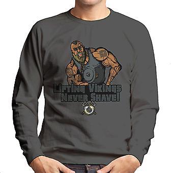Liftin Vikings Never Shave Men's Sweatshirt