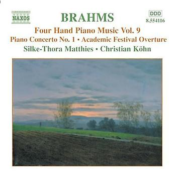 J. Brahms - Brahms: Fyra Hand pianomusik, Vol. 9 [CD] USA import