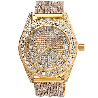 High Quality FULL ICED OUT CZ Uhr - gold