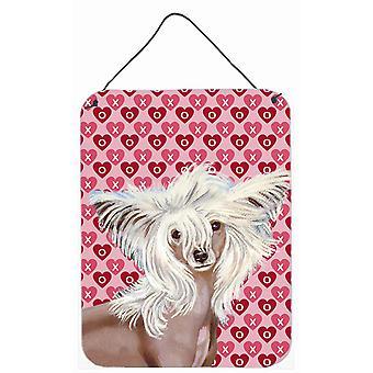 Chinesischer Schopfhund Herzen Liebe und Valentinstag Wand oder Tür hängen Drucke