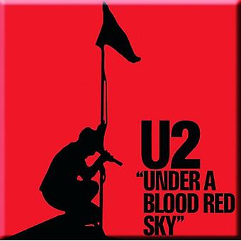 U2 frigo Magnet Under A Blood Red Sky nouveau officiel 76 mm x 76 mm
