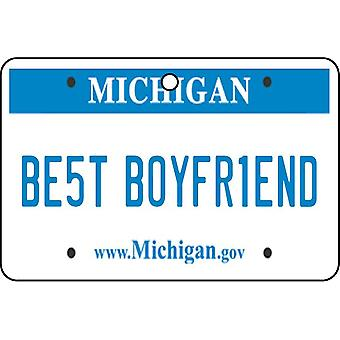 Michigan - Best Boyfriend License Plate Car Air Freshener