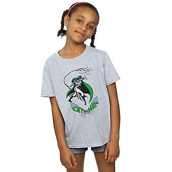 DC Comics Catwoman frusta per ragazze t-shirt