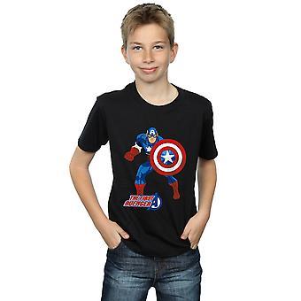 Bewundern Sie jungen Captain America das erste Avenger-T-Shirt
