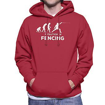 Evolution Of Fencing Men's Hooded Sweatshirt