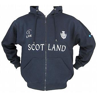 Schottland-Distel Marine Full Zip Rugby Hoody von Leben für Ruby Größen XS - XXL